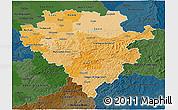 Political Shades 3D Map of Arnsberg, darken