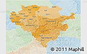 Political Shades 3D Map of Arnsberg, lighten