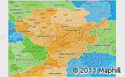 Political Shades 3D Map of Arnsberg