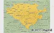 Savanna Style 3D Map of Arnsberg