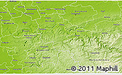 Physical 3D Map of Ennepe-Ruhr-Kreis