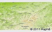 Physical 3D Map of Hochsauerlandkreis