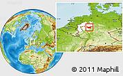 Physical Location Map of Hochsauerlandkreis, highlighted grandparent region