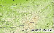 Physical Map of Hochsauerlandkreis