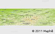 Physical Panoramic Map of Hochsauerlandkreis