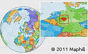 Political Location Map of Arnsberg