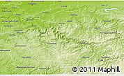 Physical 3D Map of Märkischer Kreis