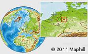 Physical Location Map of Märkischer Kreis