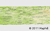 Physical Panoramic Map of Olpe