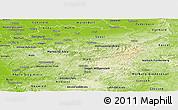 Physical Panoramic Map of Arnsberg