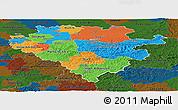 Political Panoramic Map of Arnsberg, darken