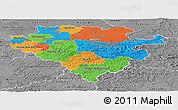 Political Panoramic Map of Arnsberg, desaturated