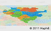Political Panoramic Map of Arnsberg, lighten