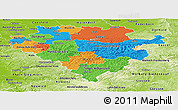Political Panoramic Map of Arnsberg, physical outside