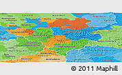 Political Panoramic Map of Arnsberg, political shades outside
