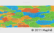 Political Panoramic Map of Arnsberg