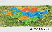 Political Panoramic Map of Arnsberg, satellite outside