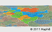 Political Panoramic Map of Arnsberg, semi-desaturated