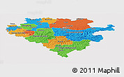 Political Panoramic Map of Arnsberg, single color outside