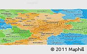 Political Shades Panoramic Map of Arnsberg