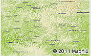 Physical 3D Map of Siegen-Wittgenstein