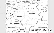 Blank Simple Map of Arnsberg