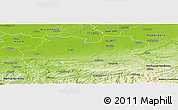 Physical Panoramic Map of Soest
