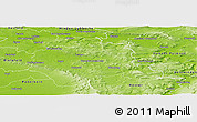 Physical Panoramic Map of Lippe