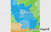Political Shades Map of Detmold