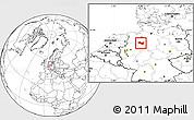 Blank Location Map of Minden-Lübbecke