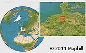 Satellite Location Map of Minden-Lübbecke