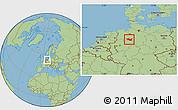 Savanna Style Location Map of Minden-Lübbecke