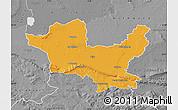 Political Map of Minden-Lübbecke, desaturated