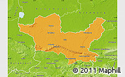Political Map of Minden-Lübbecke, physical outside