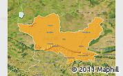 Political Map of Minden-Lübbecke, satellite outside