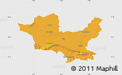 Political Map of Minden-Lübbecke, single color outside