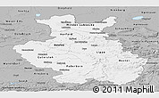 Gray Panoramic Map of Detmold