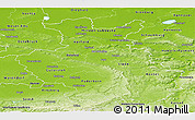 Physical Panoramic Map of Detmold