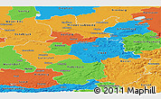 Political Panoramic Map of Detmold
