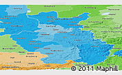 Political Shades Panoramic Map of Detmold