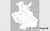 Gray Simple Map of Detmold