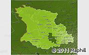Physical 3D Map of Düsseldorf, darken