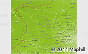 Physical 3D Map of Düsseldorf