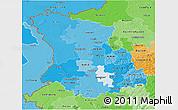 Political Shades 3D Map of Düsseldorf