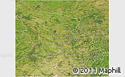 Satellite 3D Map of Düsseldorf