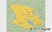 Savanna Style 3D Map of Düsseldorf
