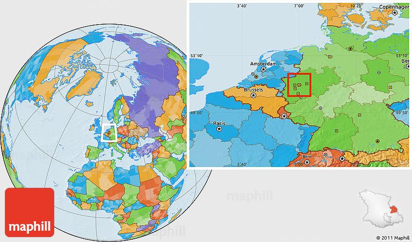 Political Location Map of Essen