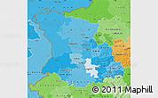 Political Shades Map of Düsseldorf
