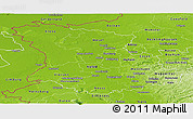 Physical Panoramic Map of Düsseldorf