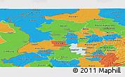 Political Panoramic Map of Düsseldorf
